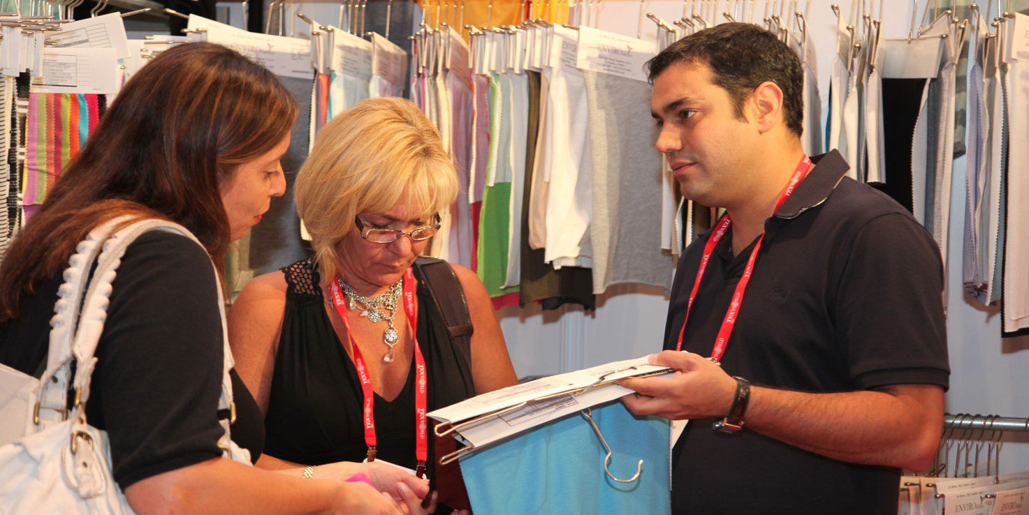 textile buyer interaction