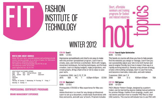 StartUp Fashion resource - FIT Hot Topics