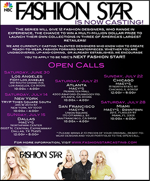 NBC Fashion Star TV Casting Call