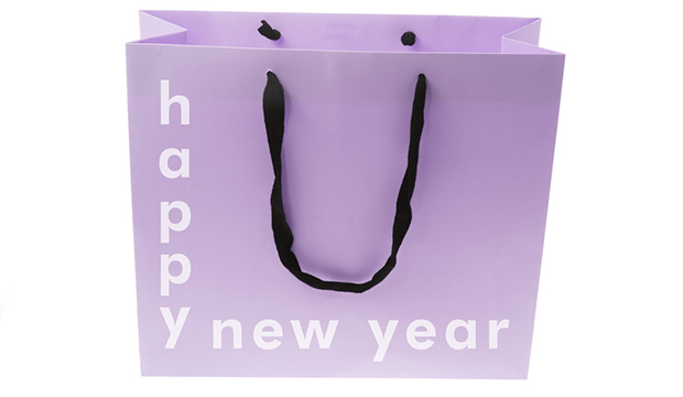Shopping Bag with New Year Greetings