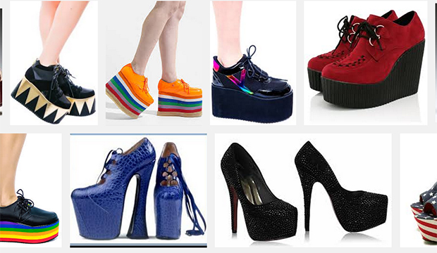 fashion archives a look at the history of platform shoes